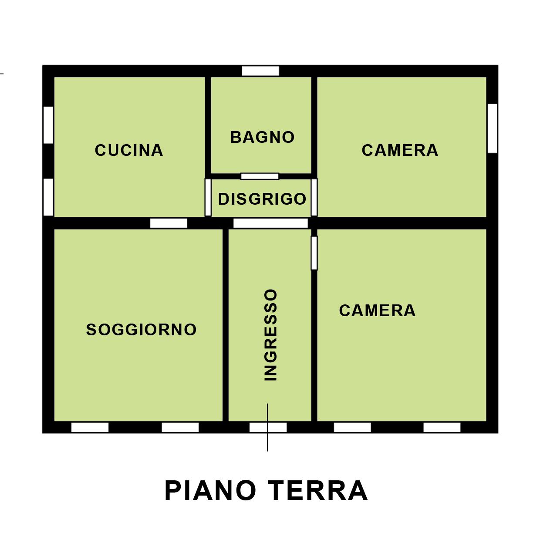 Porzione di casa a zelarino for Disegni di casa al piano terra